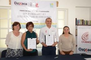 """""""Fortalecen lazos Cobao y Casa de Lenguas Oaxaca"""