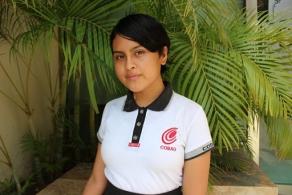 Sótera Cruz, estudiante del COBAO y promesa de la actuación