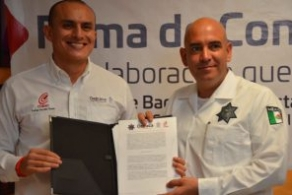 Unen esfuerzos COBAO Y SSP en el fomento a la educación media superior para policías oaxaqueños