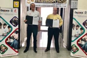Unen esfuerzos COBAO y Harmon Hall en fomento del idioma inglés