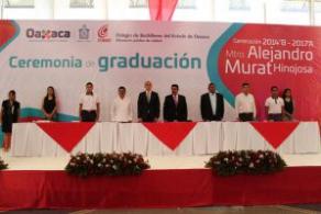 """Egresa Generación """"Mtro. Alejandro Murat Hinojosa"""", del COBAO 01 Pueblo Nuevo"""