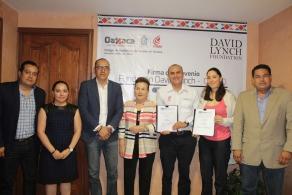 Para atender necesidades psicosociales de estudiantes,  firman convenio COBAO y la Fundación David Lynch