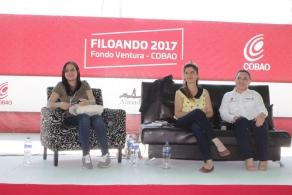 VISITA ESCRITORA GILMA LUQUE EL COBAO 34 SAN ANTONINO