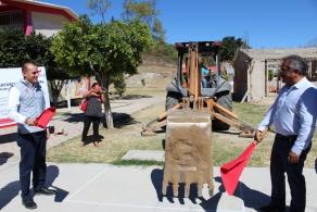INICIAN TRABAJOS DE CONSTRUCCIÓN EN EL COBAO DE NAZARENO